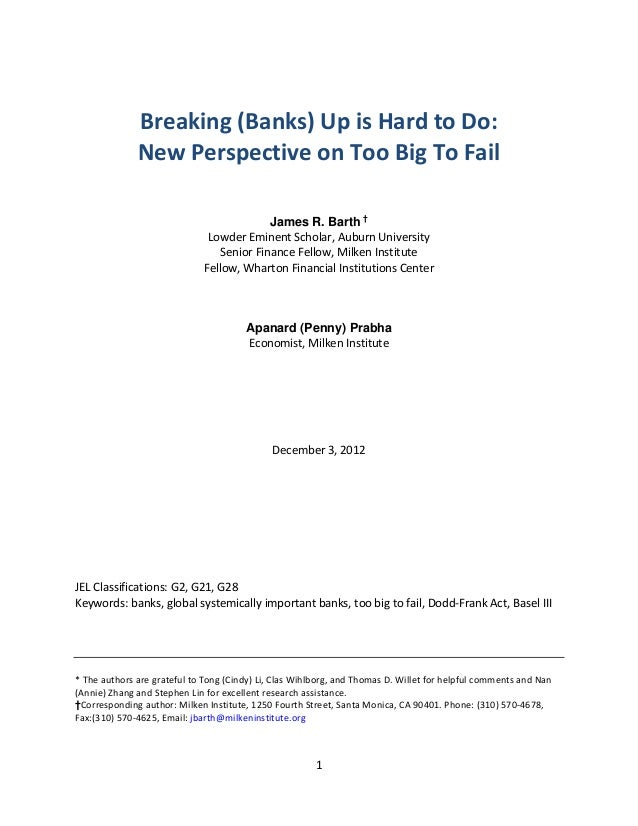Breaking(Banks)UpisHardtoDo:              NewPerspectiveonTooBigToFail                      ...