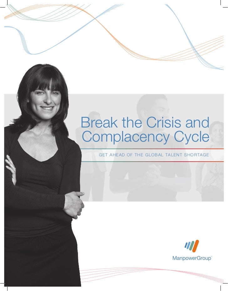 Break the Crisis andComplacency Cycle  GET AH EAD OF TH E GLOBAL TALEN T S H OR TA GE