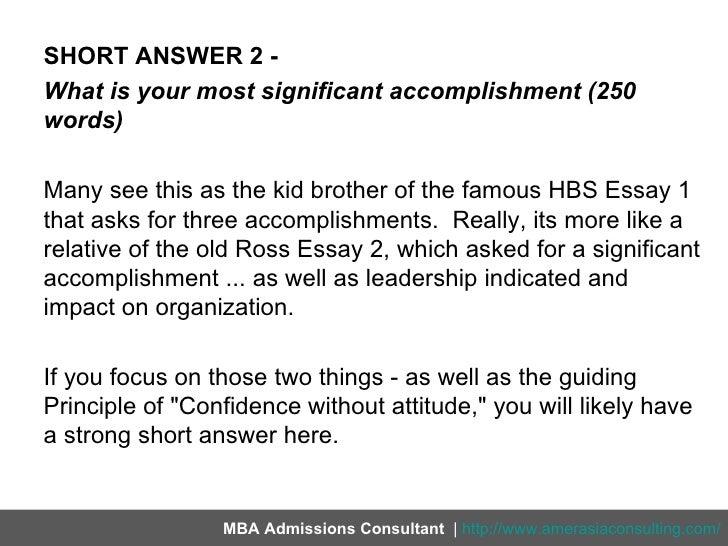 Greatest Accomplishment Essay