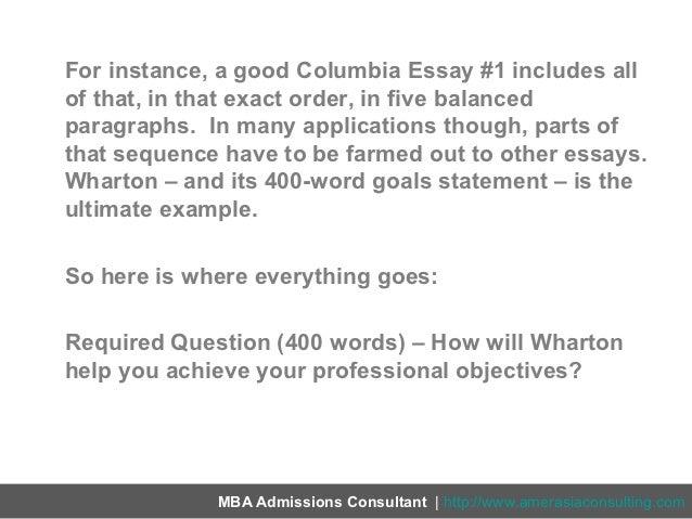 Wharton Mba Essays Business Essay Sample Business Essay Academic