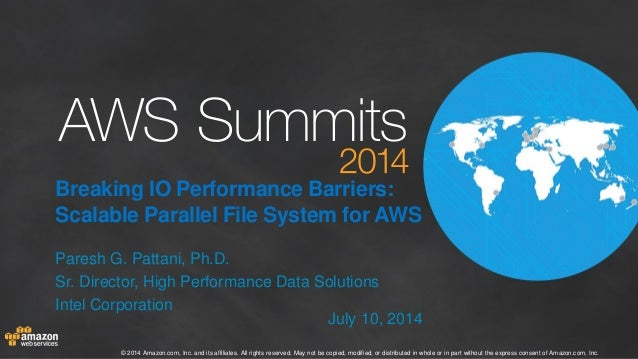 Breaking IO Performance Barriers: Scalable Parallel File System for AWS