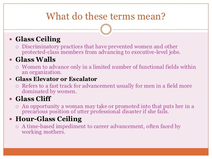 Research paper glass ceiling