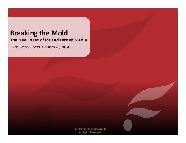 Breaking the Mold - Aaron Blank