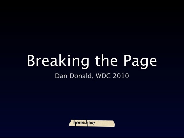 Breaking the page