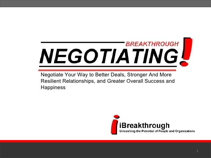 Breakthrough Negotiating