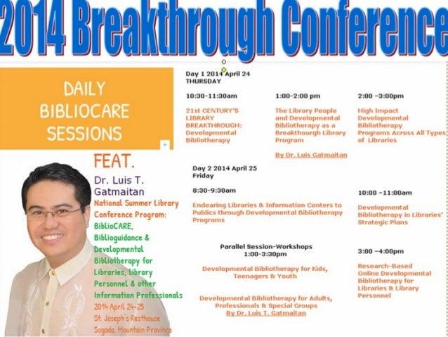 Breakthrough conference with Dr. Luis Gatmaitan