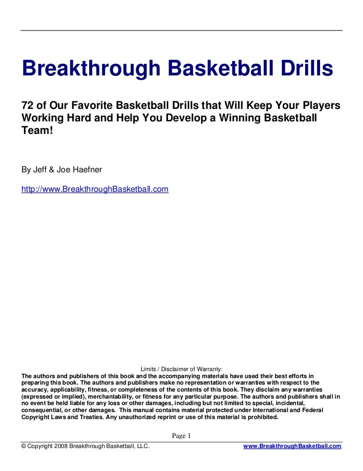 Breakthrough Basketball Drills72 of Our Favorite Basketball Drills that Will Keep Your PlayersWorking Hard and Help You De...
