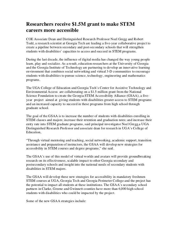 UGA education researchers receive $1.5 million NSF grant to make STEM programs more accessible -- University of Georgia