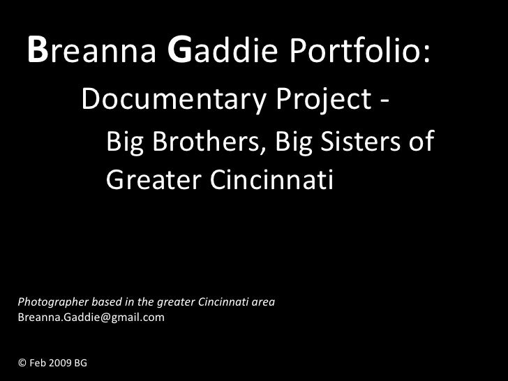 Breanna Gaddie Portfolio: Big Brothers Big Sisters