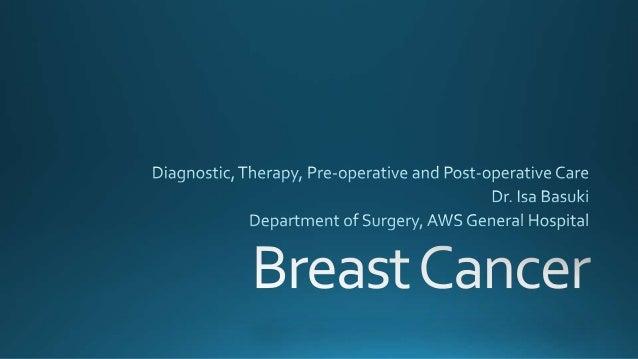 Breast Cancer by dr Isa Basuki