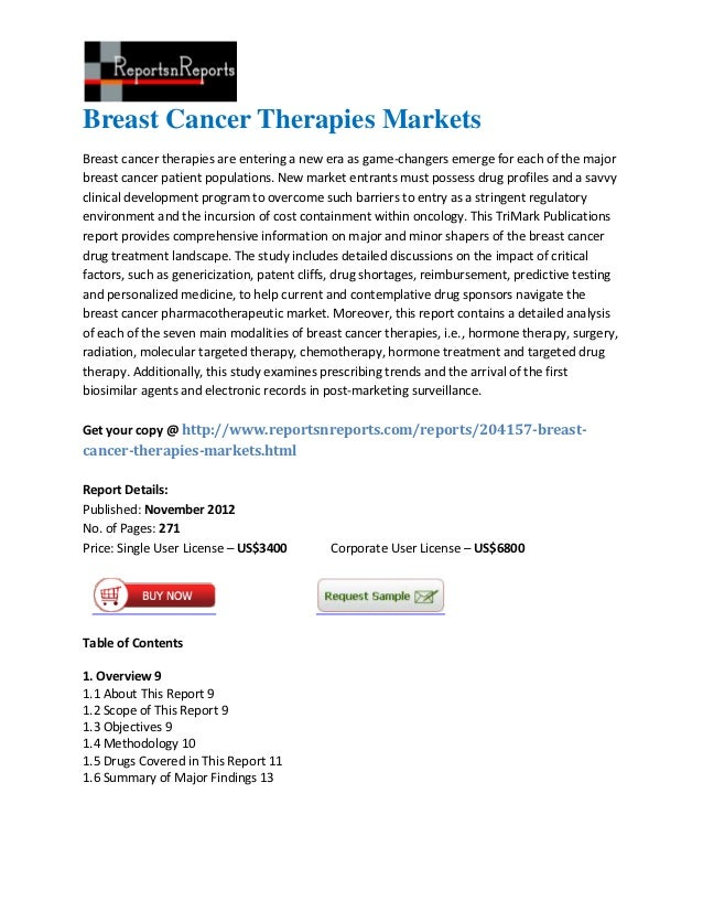 Breast Cancer Therapies MarketsBreast cancer therapies are entering a new era as game-changers emerge for each of the majo...