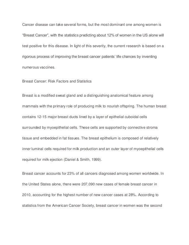Breast cancer argumentative essay example