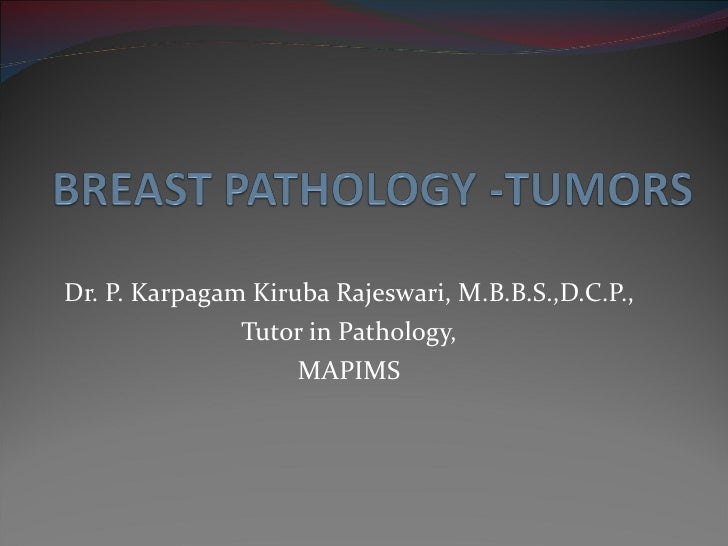 Breast carcinoma pathology