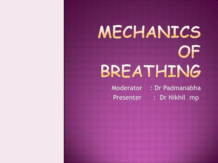 Moderator  : Dr Padmanabha Presenter  :  Dr Nikhil  mp