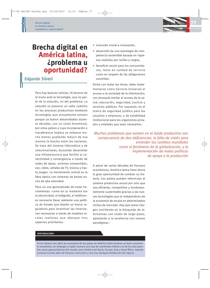 Brecha digital     en América latina,                                                                                     ...
