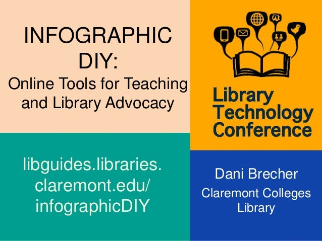 INFOGRAPHIC DIY: Online Tools for Teaching and Library Advocacy Dani Brecher Claremont Colleges Library libguides.librarie...