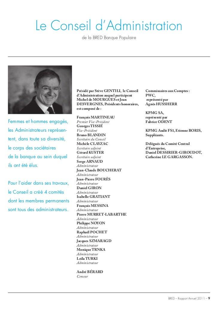 Jean Michel Laty bred banque populaire rapport annuel