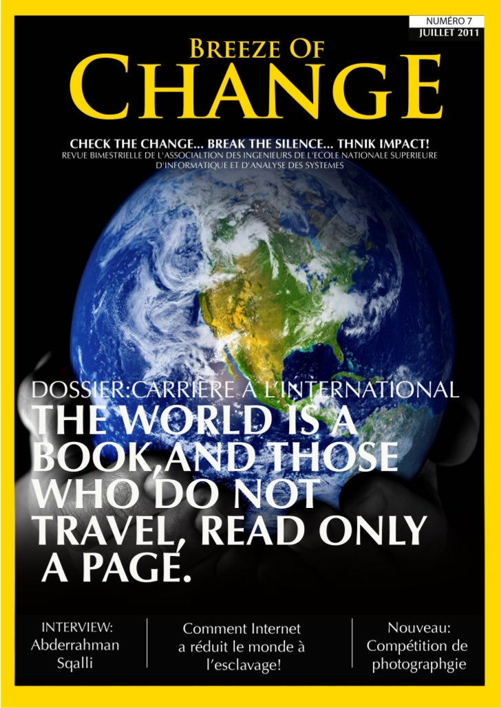 1                        Check the change...                 Break the silence... Think impact!    Edito                  ...