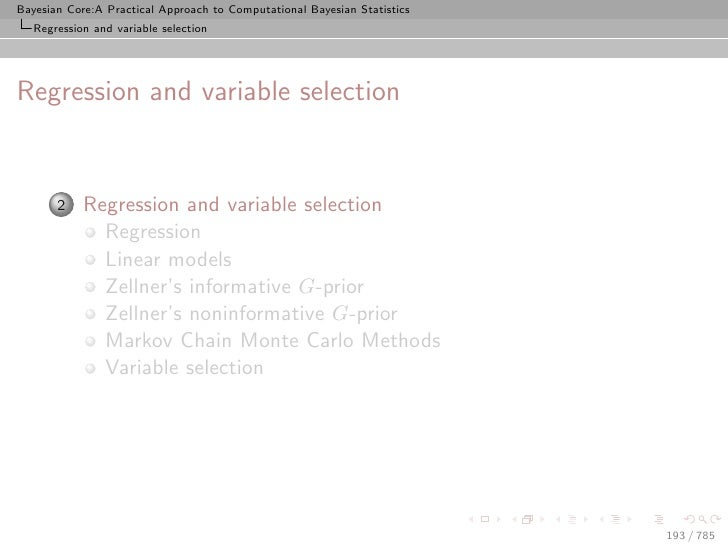 Bayesian Core:A Practical Approach to Computational Bayesian Statistics    Regression and variable selection     Regressio...