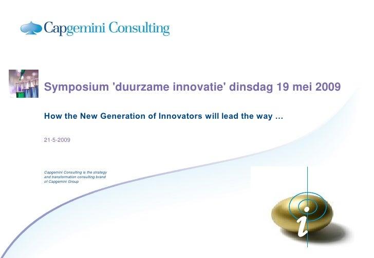 Breijn Symposium Duurzaam Innoveren 19 Mei 2009