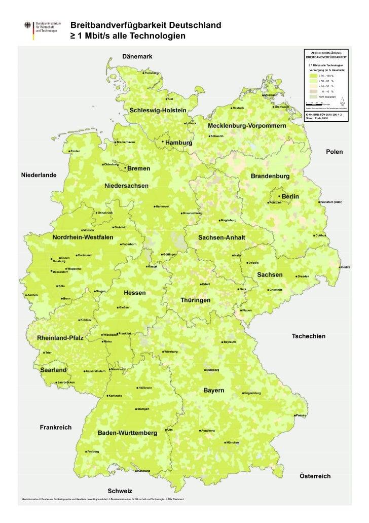 Breitband-Verfügbarkeit Deutschland 2010