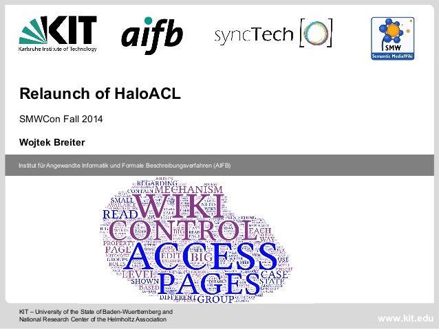 Institut für Angewandte Informatik und  Formale Beschreibungsverfahren (AIFB), KIT  Institut für Angewandte Informatik und...
