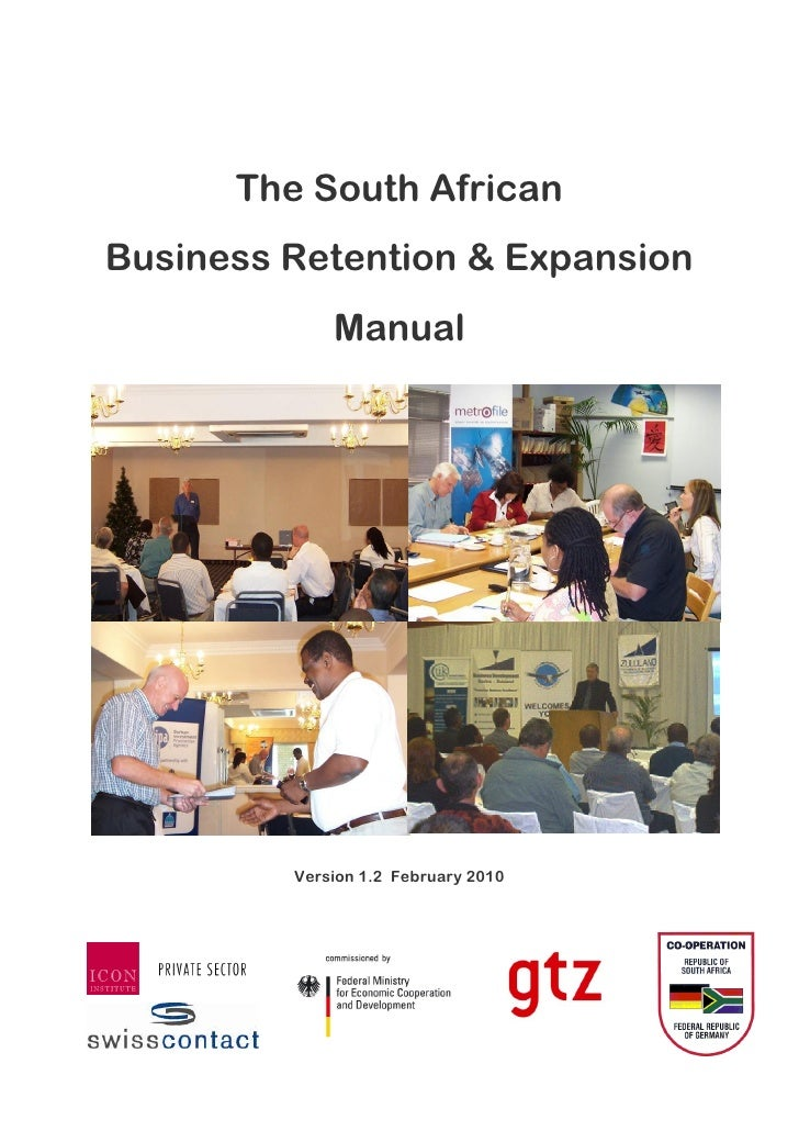 The South AfricanBusiness Retention & Expansion             Manual         Version 1.2 February 2010