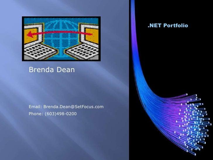 Brenda Dean Portfolio