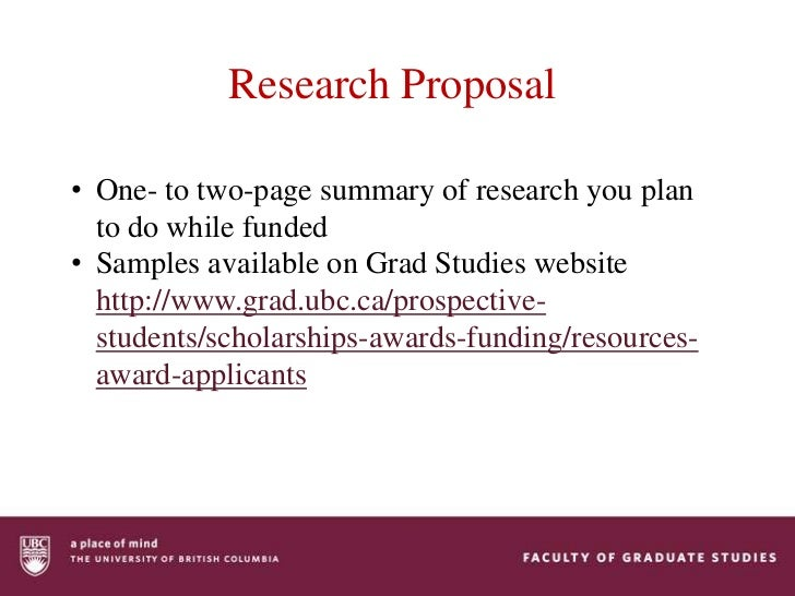 Postdoctoral research proposal