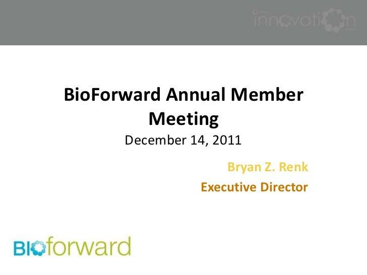 BioForward Annual Director's Report