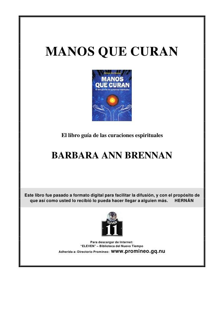 Brennan Barbara Ann Manos Que Curan Pdf