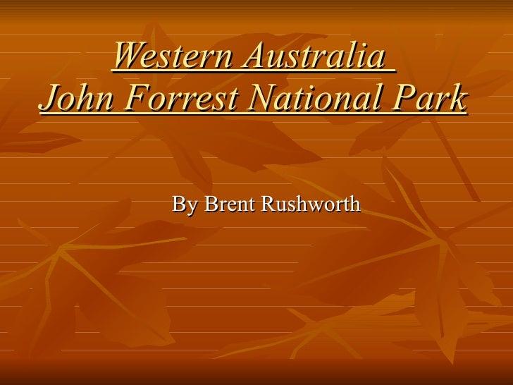 Western Australia  John Forrest National Park By Brent Rushworth