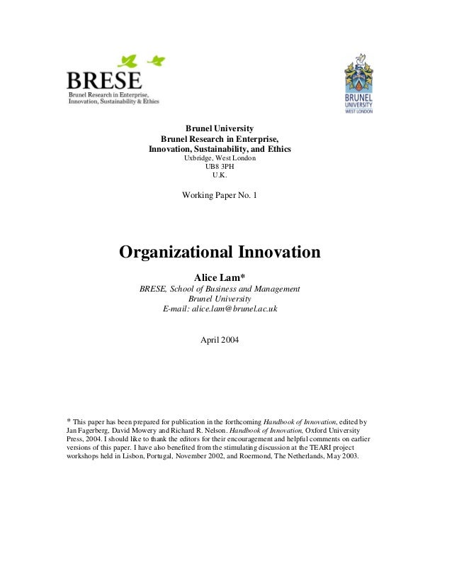 Brese org innovation_lam_wp1