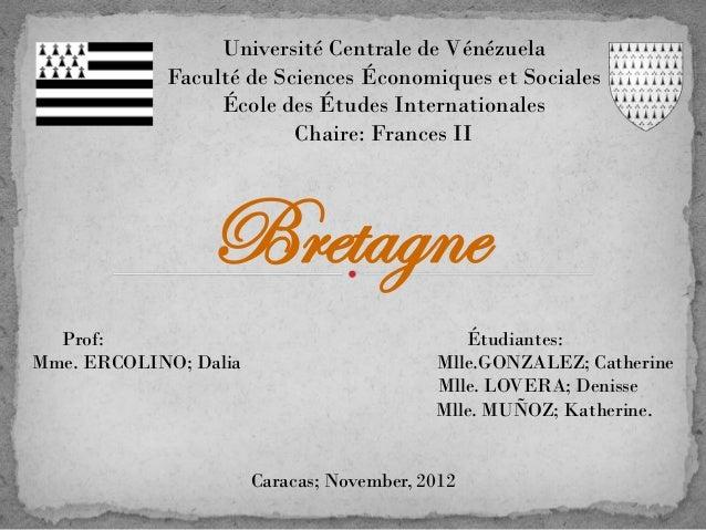 Université Centrale de Vénézuela            Faculté de Sciences Économiques et Sociales                 École des Études I...