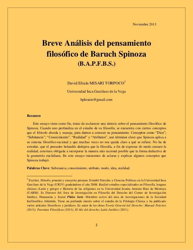 baruch spinozas anti anthroponcentric view essay Philosophy spinoza the ethics - baruch spinoza's anti anthroponcentric view.
