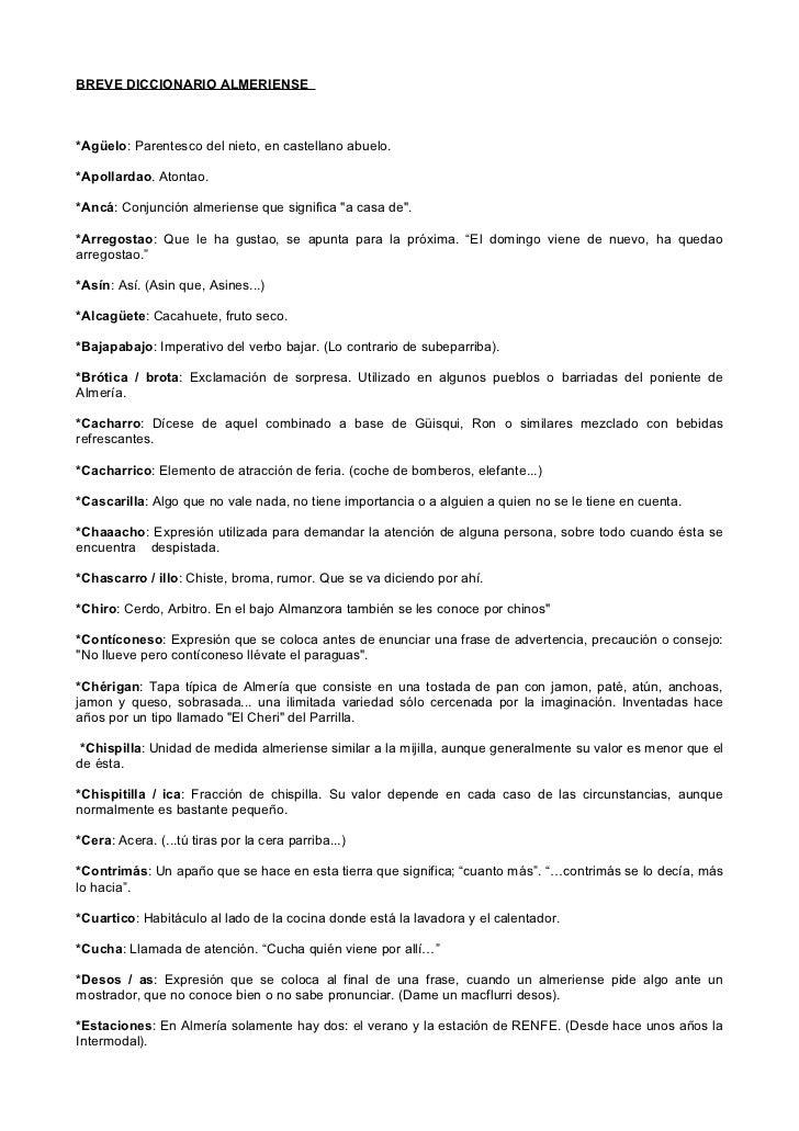 diccionario almeriense