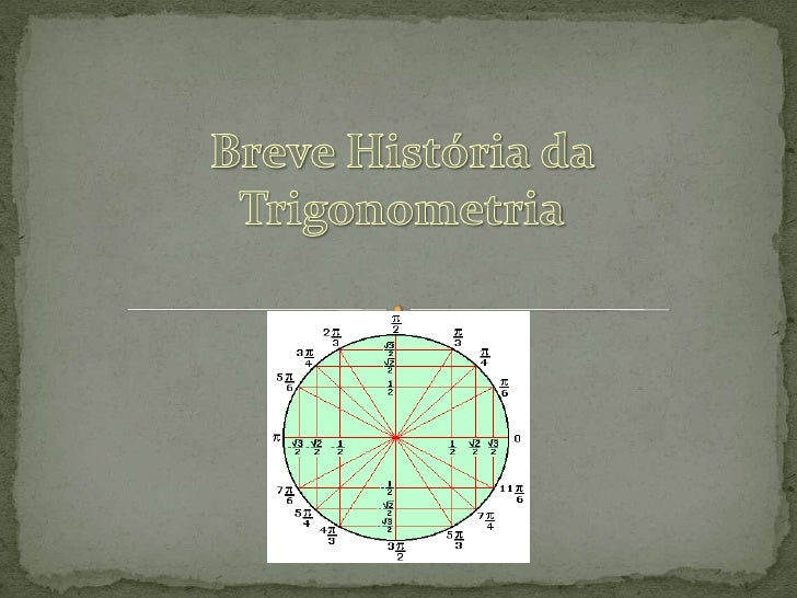 A palavra Trigonometria tem origem grega:TRI = três    GONO = ângulo METRIEN= medida.Significa : medida de triângulos.Estu...