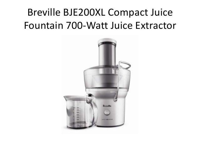 Breville BJE200XL Compact JuiceFountain 700-Watt Juice Extractor