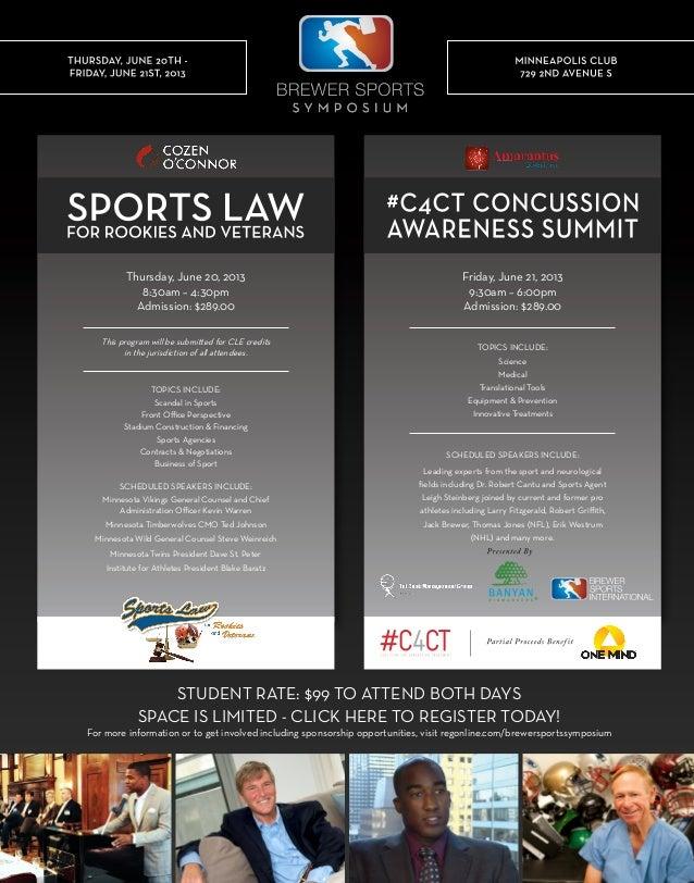 Brewer sports symposium flyer