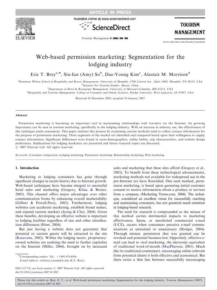 Brey sokimmorrisontm2007webbasedpermissionmarketing