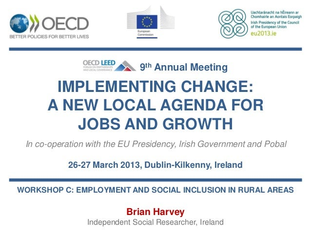 Brian Harvey - Employment and social inclusion in rural areas
