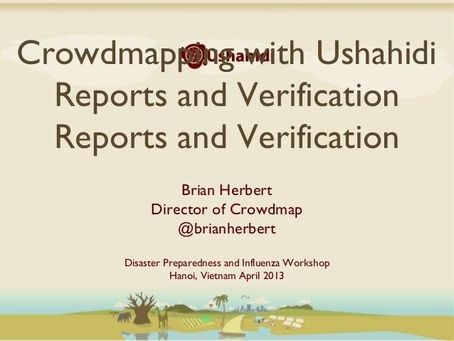 Crowdmapping & Verification Hanoi Workshop