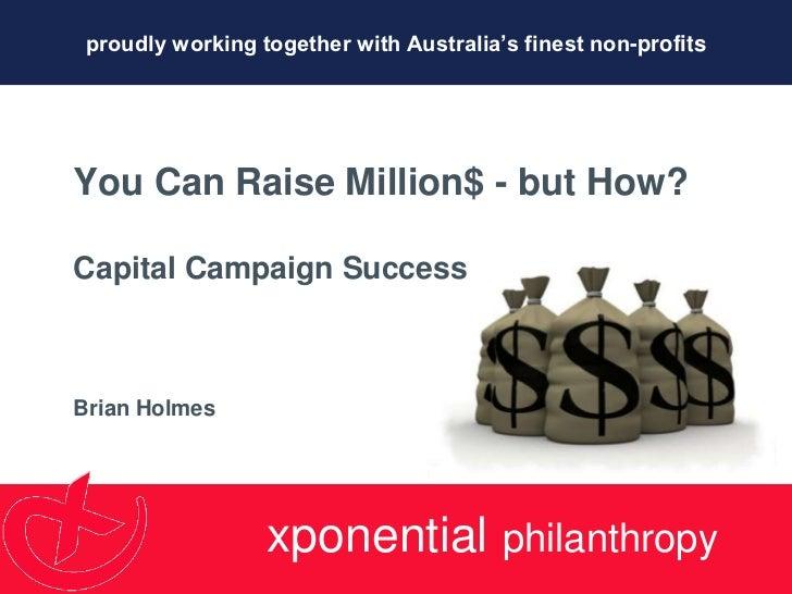 #CU11: Brian holmes  capital campaigns
