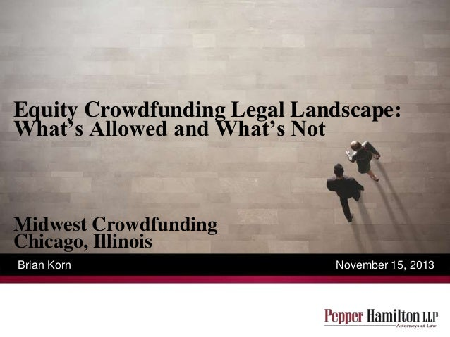 Brian Korn - Equity Crowdfunding Legal Aspect
