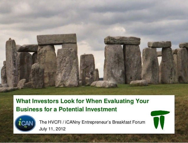 What are Investors Looking for when Evaluating your Business for a Potential Investment