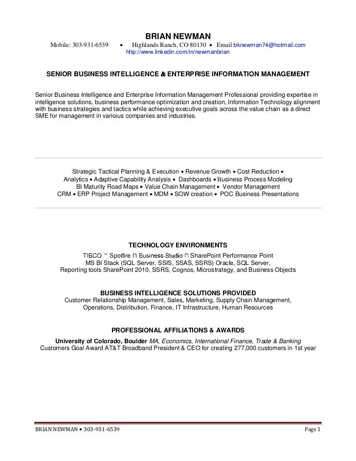brian newman resume