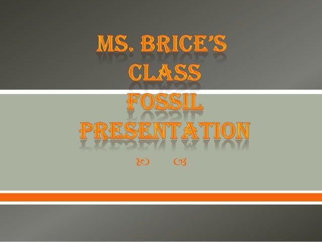 Ms. Brice's Class Fossil Presentation