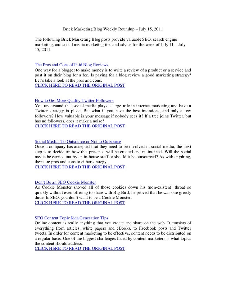 SEO Articles for July 15, 2011