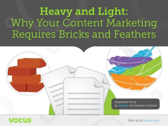 Bricks and Feathers Content Marketing by Jay Baer
