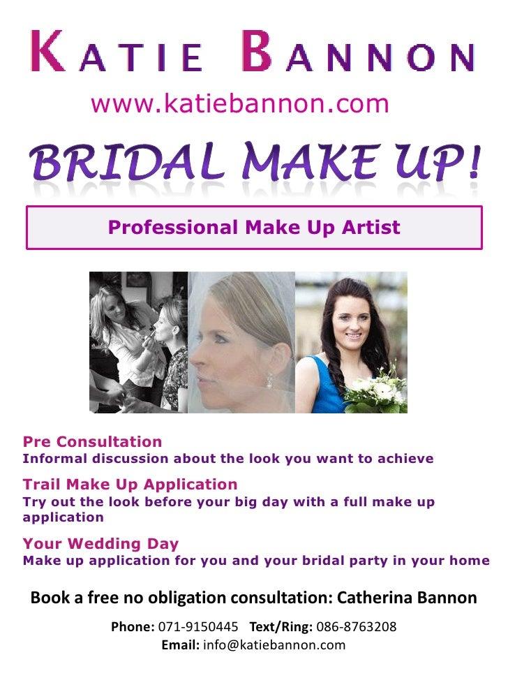 How To Do A Bridal Makeup Consultation : Bridal makeup poster